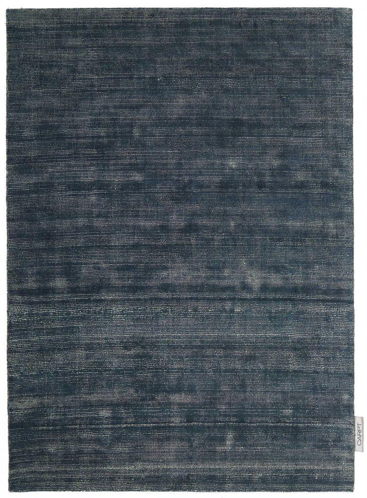 Carpt handgefertigter Schurwolle Leinen Teppich Bichrome Reef beiged anthracite