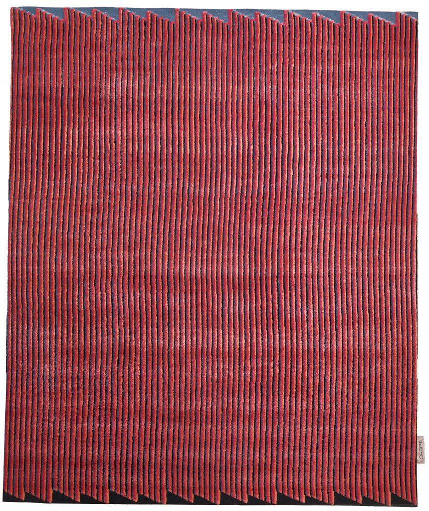 CARPT handmade carpet Summit Stripes Dolomiti Sunset