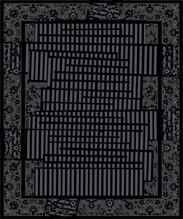 Carpt handgefertigter Teppich Tendril Tapes Midnight