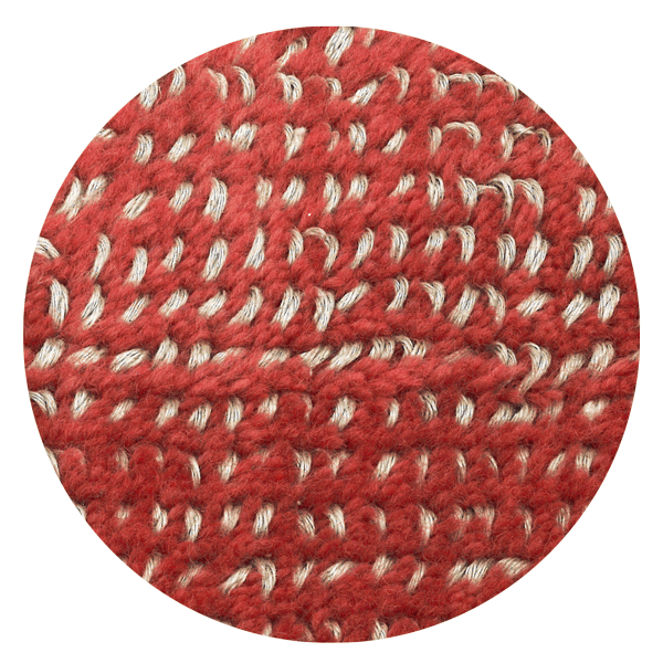Carpt handgefertigter Teppich Bichrome Reef beiged coral