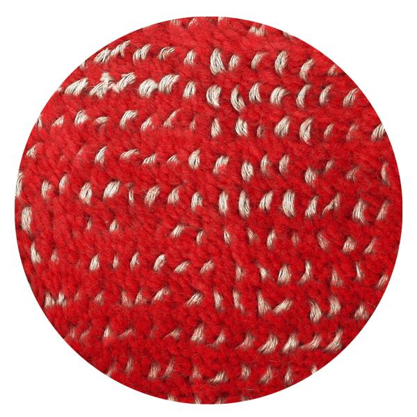 Carpt handgefertigter Teppich Bichrome Reef beiged red