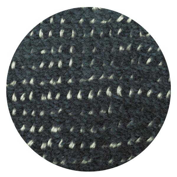 Carpt handgefertigter Teppich Bichrome Reef turquoised anthracite