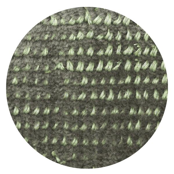 Carpt handgefertigter Teppich Bichrome Reef turquoised grey