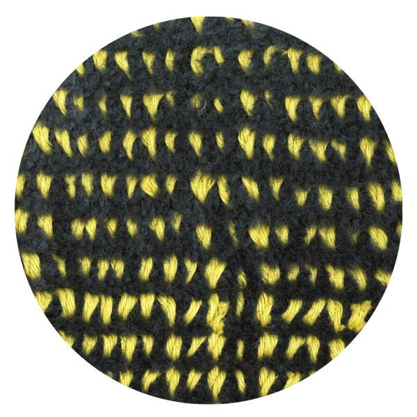 Carpt handgefertigter Teppich Bichrome Reef yellowed anthracite