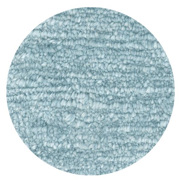 Carpt handgeknüpfter Leinen Teppich Glossy Linen Baby blue