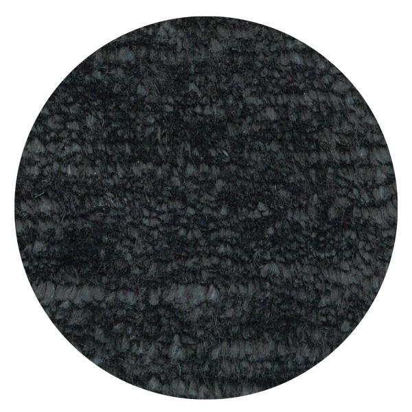 Carpt handgefertigter Leinen Teppich Glossy Linen Dodgy black