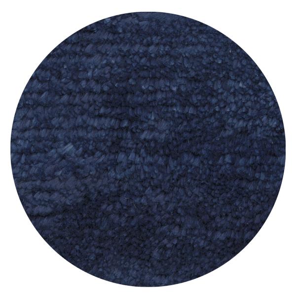 Carpt handgefertigter Leinen Teppich Glossy Linen Midnight blue