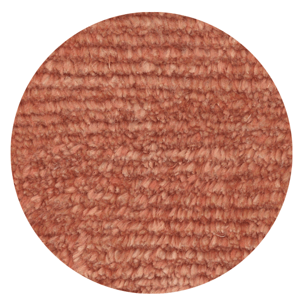 Carpt handgeknüpfter Leinen Teppich Glossy Linen Rusty coral