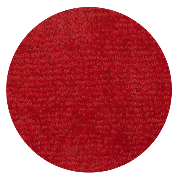 Carpt handgefertigter Teppich Shiny Cotton Crab rot