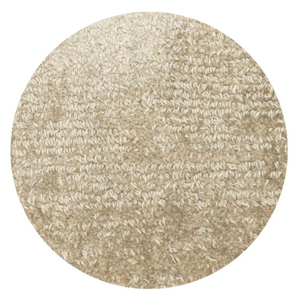 Carpt handgefertigter Teppich Shiny Cotton Sandbank beige