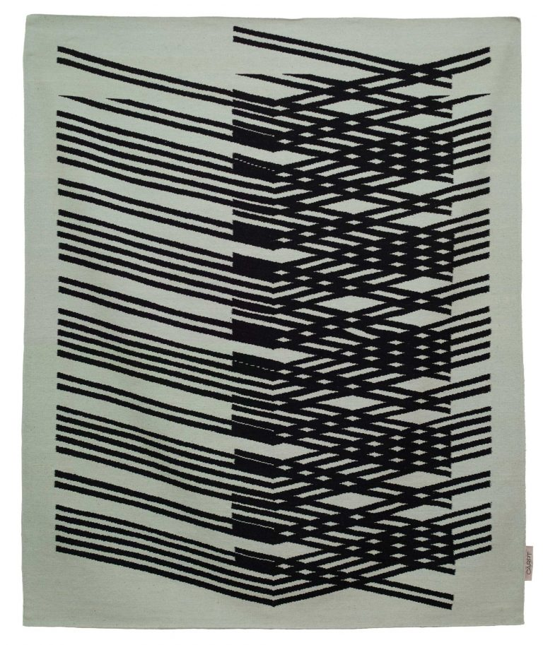 Carpt maßgefertigt, handgewebter Himalayaschurwolle Kelim Teppich Crossed Arrows