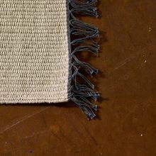 Carpt handgewebter Leinen Kelim Teppich India Kilim Ashy Fringes