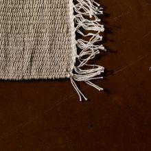 Carpt handgewebter Leinen Kelim Teppich India Kilim Blank Fringes