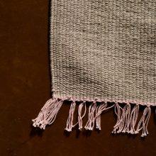 Carpt handgewebter Leinen Kelim Teppich India Kilim Blushy Fringes