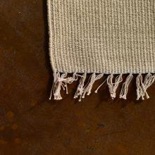Carpt handgewebter Leinen Kelim Teppich India Kilim Champagne Sandy Fringes