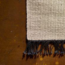 Carpt handgewebter Leinen Kelim Teppich India Kilim Coaly Fringes