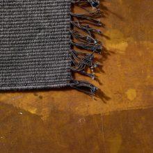 Carpt handgewebter Leinen Kelim Teppich India Kilim Dark Double
