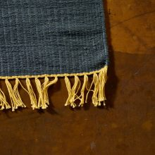 Carpt handgewebter Leinen Kelim Teppich India Kilim Fade to Grey