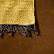 Carpt handgewebter Leinen Kelim Teppich India Kilim Fade to Yellow