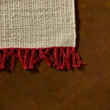 Carpt handgewebter Leinen Kelim Teppich India Kilim Fiery Fringes
