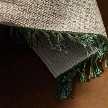 Carpt handgewebter Leinen Kelim Teppich India Kilim Pine Fringes