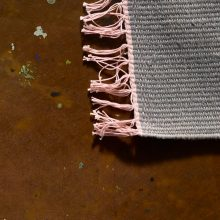 Carpt handgewebter Leinen Kelim Teppich India Kilim Stone Rose