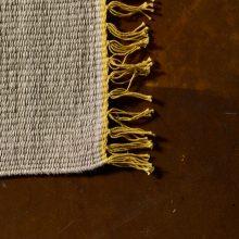 Carpt handgewebter Leinen Kelim Teppich India Kilim Sunny Fringes